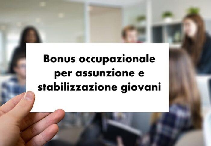 Bonus occupazionale per l'assunzione e la stabilizzazione di giovani under 35